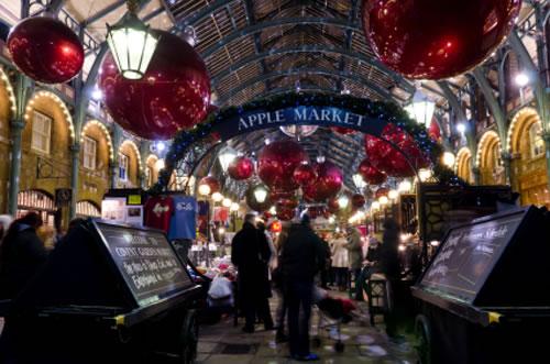 Mercado de navidad de covent garden londres viajando por - Cena romantica en londres ...