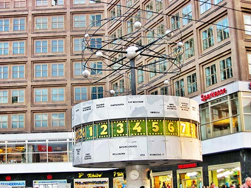 Reloj Mundial de Alexanderplatz en Berlín