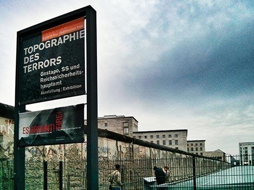 Segmento del Muro de Berlín en Topografía del Terror Berlín