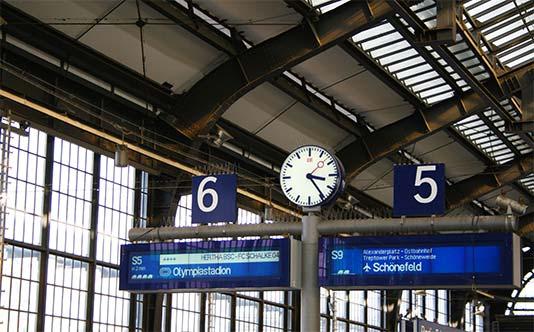 Estación S-bahn en Berlín