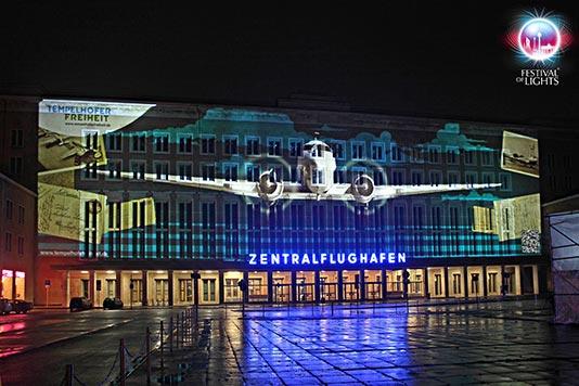 Aeropuerto de Tempelhof en el Festival of Lights