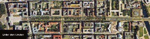 Vista aerea de Unter den Linden Berlín