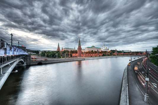 kremlin moscu anochecer