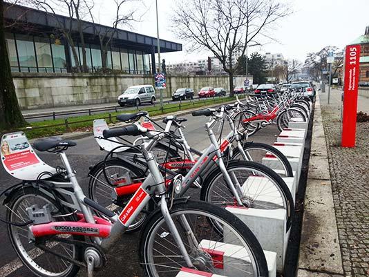Bicicletas de alquiler público en Berlín