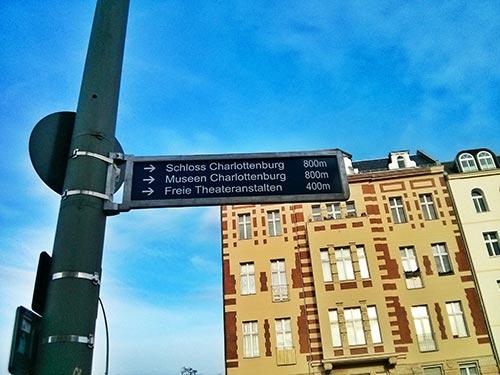 Indicaciones para llegar al Palacio de Charlottenburg Berlin