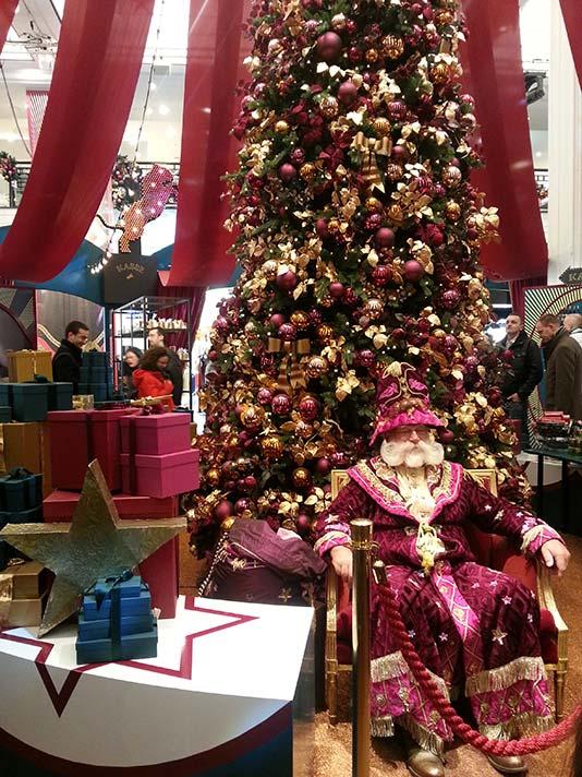 Papa Noel en KaDeWe el día de Navidad